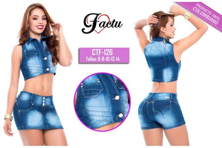 #enterizo #vaquero #pantalon #jean #chambray #conjunto #levantacola #capri #fotos #comprar #vestido #chaleco #mujer #moda #ropa #colombiana #pantalonescolombianos #original #short #tipofalda