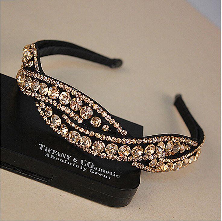 >> Click to Buy << 2016 New Lady Luxury Broadside Rhinestone Hairbands Glitter Twist Headbands For Women Hair Accessory hair jewelry 3 colors #Affiliate
