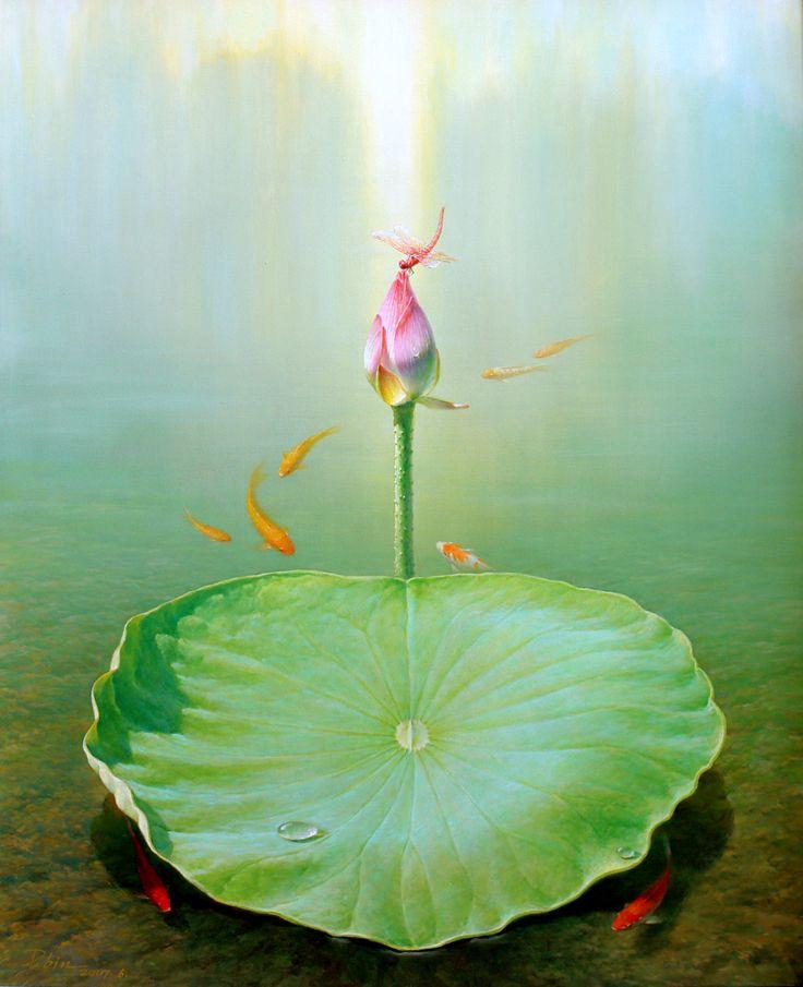 蔣德斌 Jiang Debin 靈氣逼人 Spirit 100x81cm 油畫 oil on canvas  #art #gallery #oil #contemporary #hongkong #painting #artwork #hongkongartgallery #chineseart #asian #asianart #nature #exhibition #artist #modern #artwork #passion #contemporaryart #drawing #drawings #artgallery #nature #spring #spirit #flower #lake #lotus #jiangdebin
