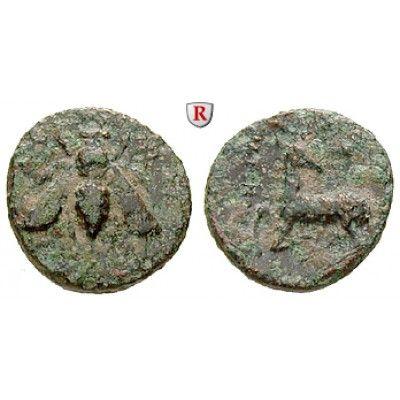 Ionien, Ephesos, Bronze 387-295 v.Chr., s-ss: Bronze 14 mm 387-295 v.Chr. Biene / Hirsch steht l. mit sich umwendendem Kopf. SNG… #coins