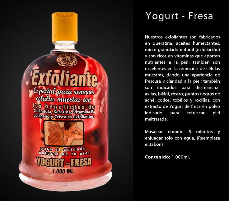 exfoliante yogurt fresa indicado para refrescar la piel maltratada