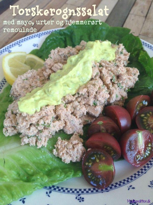 Hurtig frokost LCHF - torskerognsalat