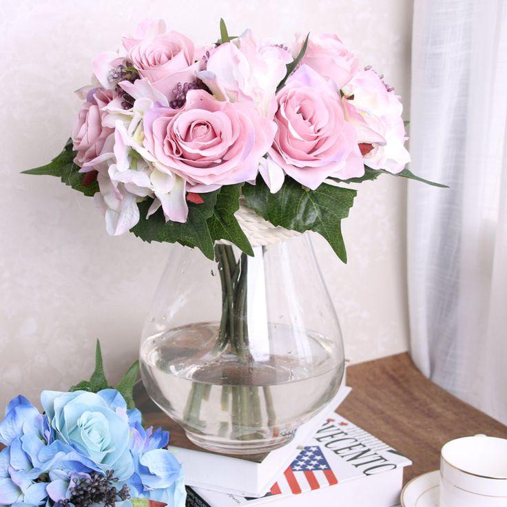9pcs/Bouquet Camellia Hands Holding Silk Artificial Flowers Bridal Bridesmaid Bouquet For Wedding Party Home Decoration Supplies #Affiliate