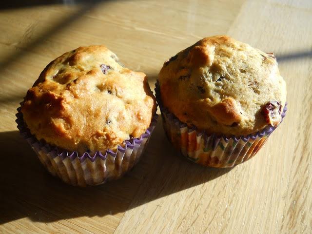 muffin canneberge séchées et orange