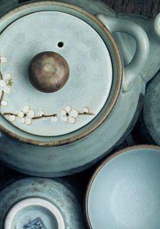 Cherry blossom Tea Set / Set di Ceramiche da Tè con Fiori di Ciliegio