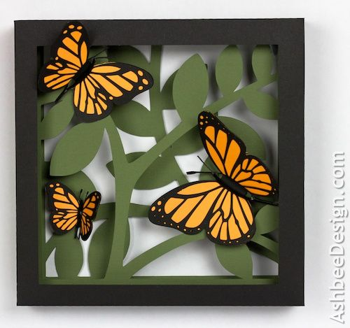 Ashbee Design Silhouette Projects: 3D Butterfly Shadow Box