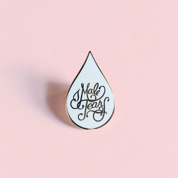 PREORDER SHIPS 9/19: Male Tears cloisonné enamel pin