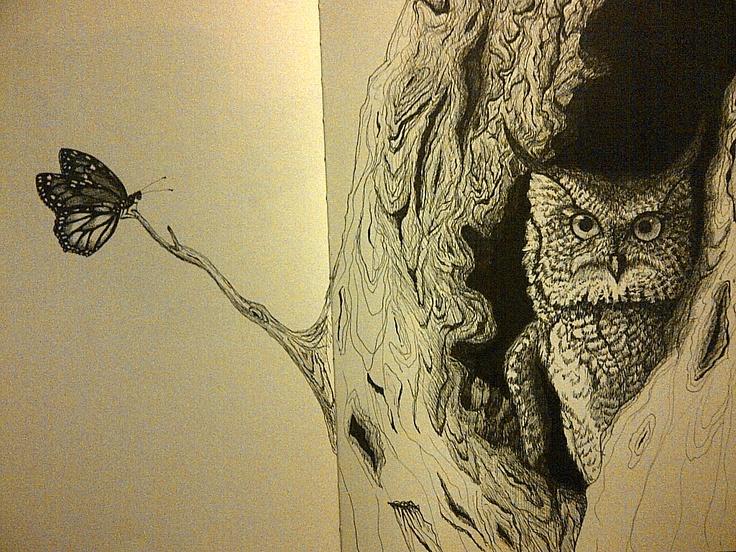 """""""Owl & Butterfly"""""""