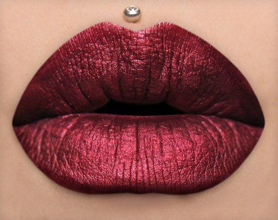 Bitten - Metallic Dark Red Matte Liquid Lipstick