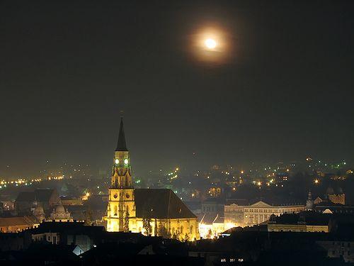 Cluj-Napoca, Romania by night