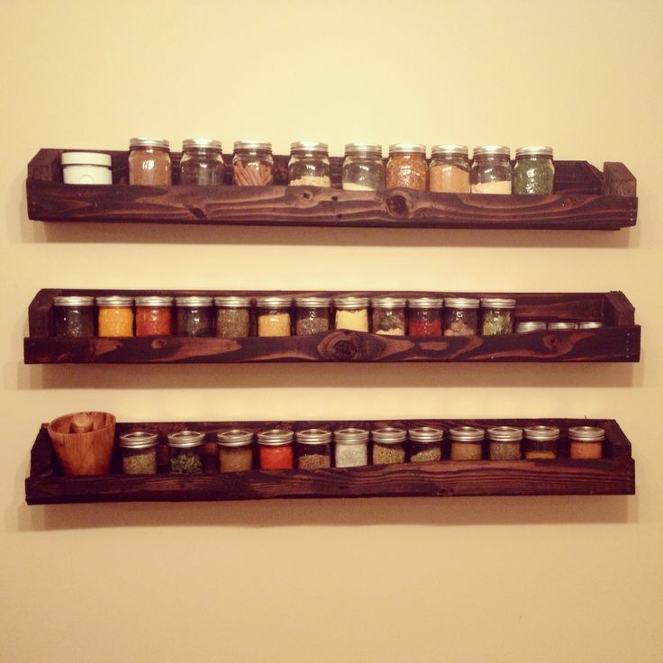 Best 25 Pallet Spice Rack Ideas On Pinterest