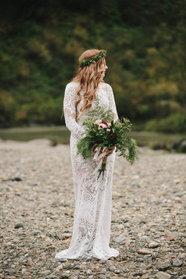 DIY Forest Wedding At Begbie Falls In British Columbia