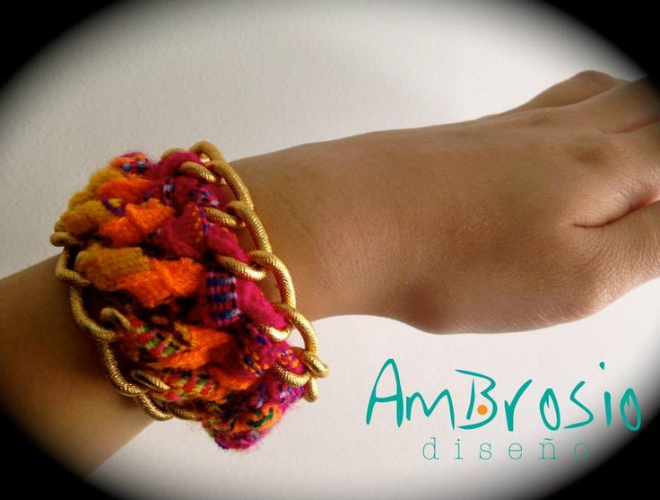 Colorful Bracelet - Handmade - Pink, Orange, Yellow - Made in Colombia - Chic Bracelet - Boho $19.00