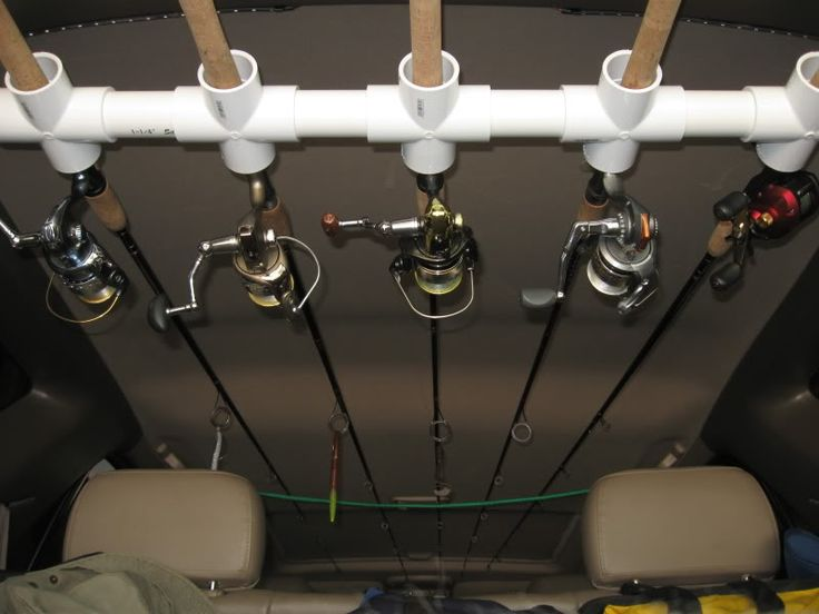 SUV Home Made Rod Holder - Expedition Portal