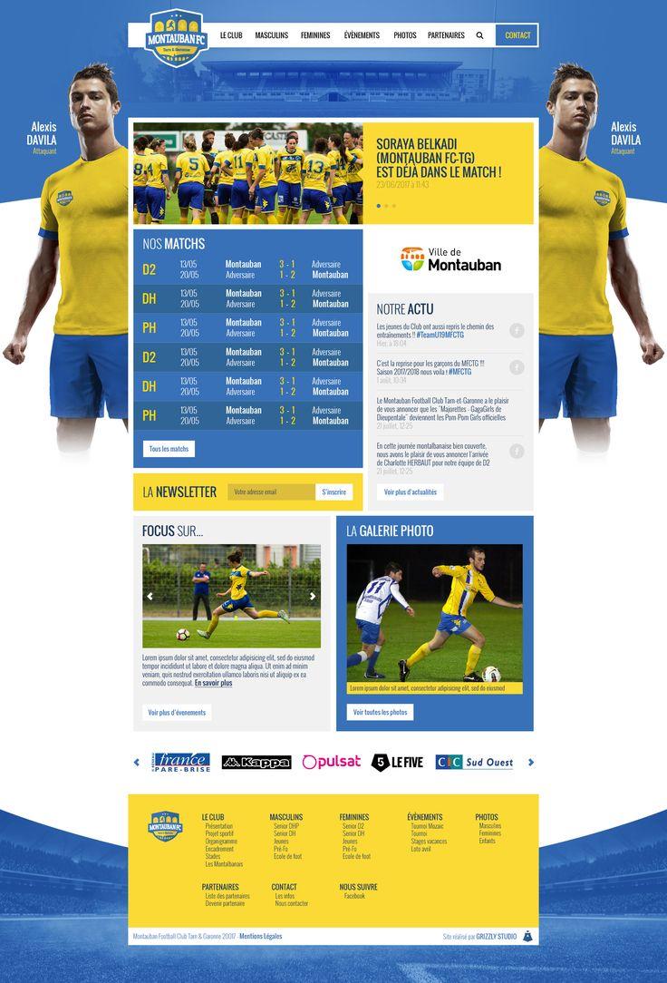 Proposition - Direction Artistique du site du MONTAUBAN FOOTBALL CLUB - #foot #football #MFC #artdirection #directionartistique #website #web #photoshop #graphic #design #graphicdesign