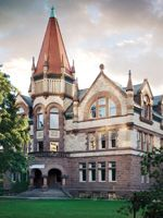 Changing Pages will take place at Victoria University in the University of Toronto. Nearby sites include Queen's Park and the Royal Ontario Museum.