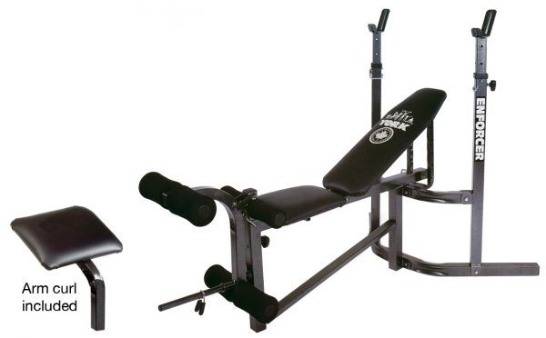 York Barbell 9300 Enforcer Bench No Equipment Workout Home Gym At Home Gym