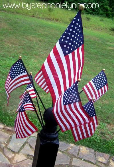 flag spindle post: Crafty Stuff, Ideas, Post, Curb Appeal Color, Katy 39 S Birthday, Awesome Flag, American Flag, Bigger Flags, Birthday Party