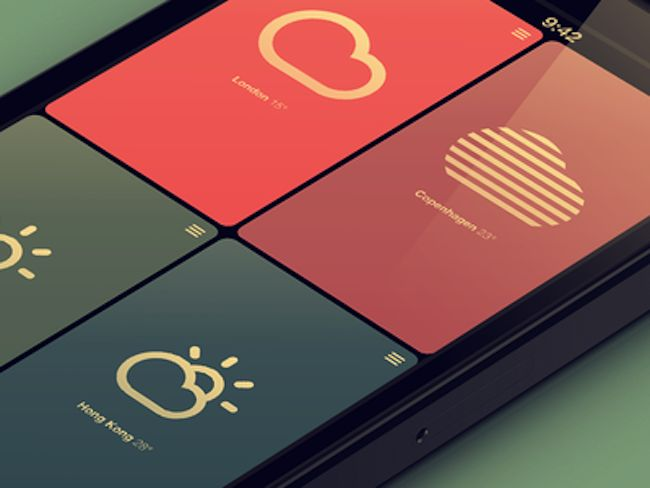Gorgeous and Flat iOS App Designs
