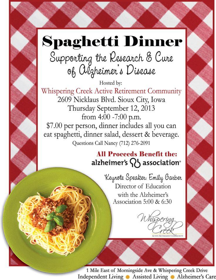 spaghetti fundraising dinner  names - google search