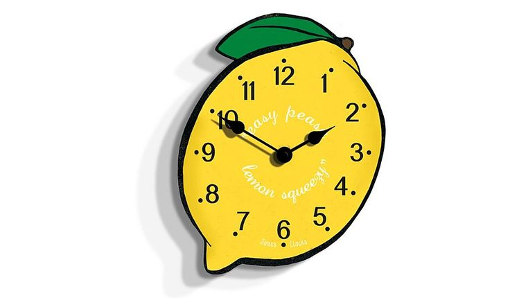 Jones Lemon Wall Clock Clocks George At Asda Clock Wall Clock Yellow Home Accessories