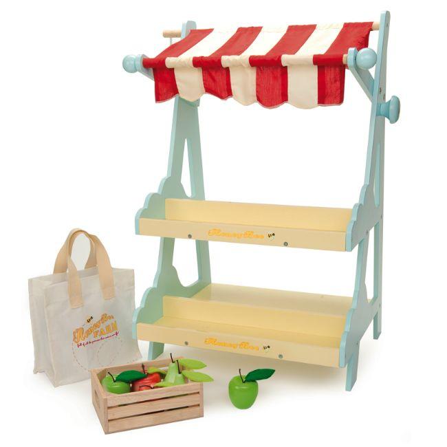 Le Toy Van Marknadsstånd med Fruktåda