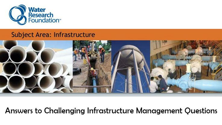 Water Research Foundation, USA have published to the final report Answers to Challenging Infrastructure Management Questions. My thanks to Dan Ellison at HDR for bringing this to my attention (via ...