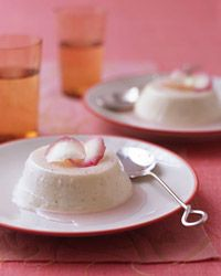 Creamy Rose Panna Cotta Recipe from Food & Wine. This is both delicious and romantic!