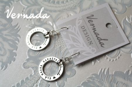 Vernada Design ELÄ. NAURA. RAKASTA. -korvakorut. #jewelry #earrings #suomestakäsin #finnishdesign