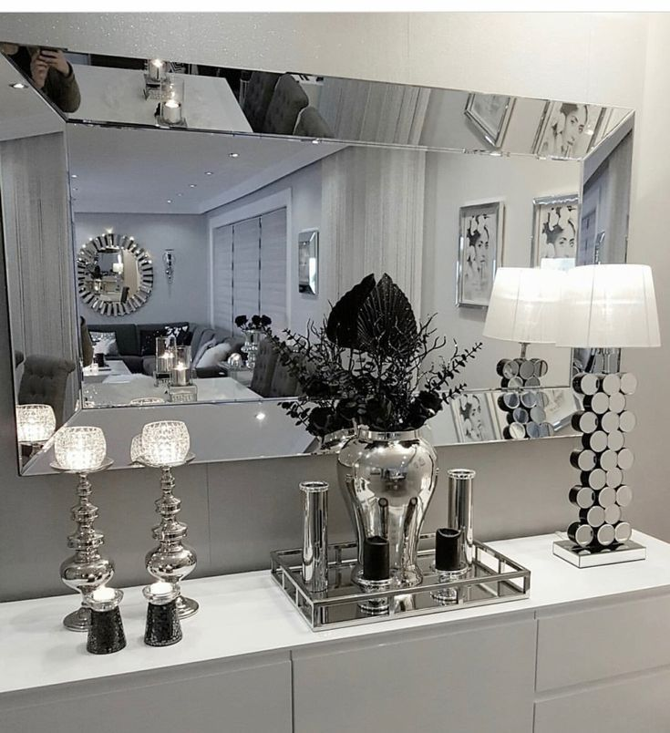 Colors For The Small Bedroom Black And White Eternity For The Small Bedroom Dream Bedrooms Silver Living Room Decor Silver Living Room Glam Living Room #white #and #black #living #room #decor #ideas