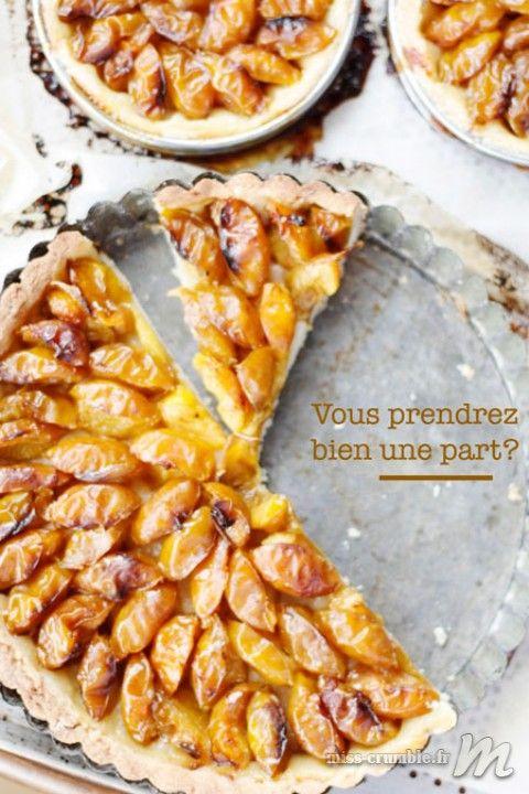 Une belle tarte aux mirabelles, qui appelle un joli vin d'Alsace Vendanges Tardives... #DrinkAlsace