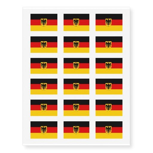 German flag temporary tattoos