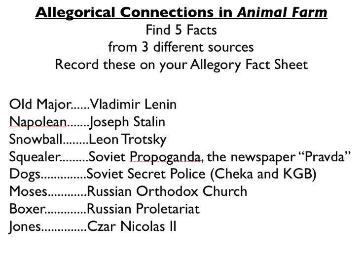 Orwells Animal Farm As An Allegory Of Russian Revolution College