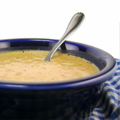 One Perfect Bite: Creamy Onion and Blue Cheese Soup - Meatless Monday