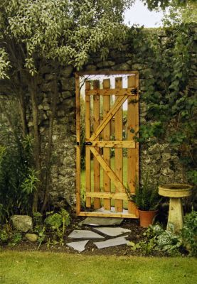 Magic Mirror Gate. Designed to give the illusion of a gateway leading beyond your fence