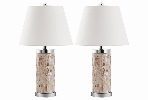 Living Room Lamp Sets Elegant Diana Shell Table Lamp Set On Ekingslane Lamps Living Room Lamp Sets Room Lamp Living room table lamp sets