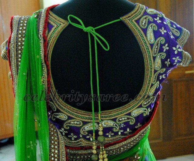Heavy Work Latest Half Saree | Saree Blouse Patterns