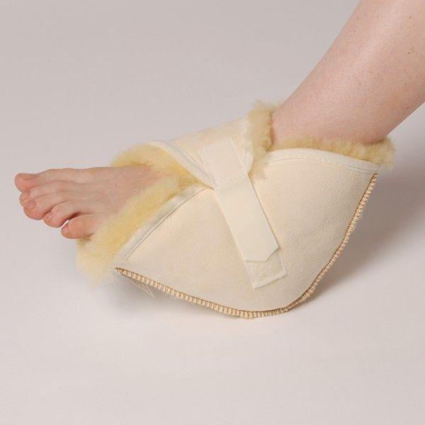 TALONERA DE LANA NATURAL - REF: 10505: De pura lana. Previene úlceras de presión. Proporciona alivio del dolor y terapia térmica.