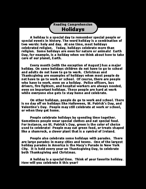 holidays reading comprehension comprehension worksheetscomprehension questionsreading comprehensionfree - Free Halloween Reading Comprehension Worksheets