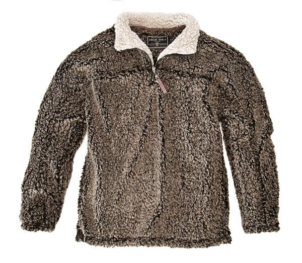 True Grit - Frosty Tipped Pile Zip Pullover :: Sweaters :: Categories :: Mens :: Oak Hall