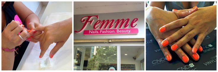 I segreti per unghie perfette: smalto estate 2014, trattamenti e un regalo per voi! Presso CND Shellac Certified Salon Femme.
