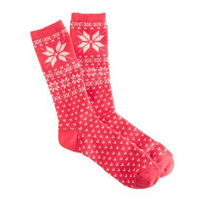 Snowflake Fair Isle trouser socks (in each color) | J.Crew $16.50