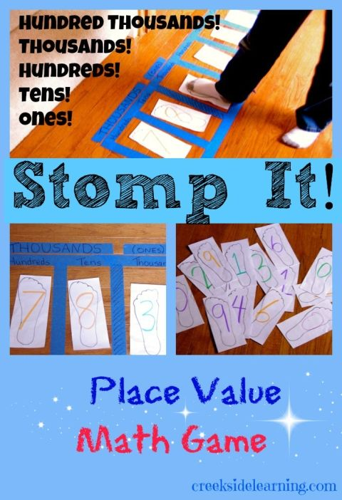 stomp it! place value math game