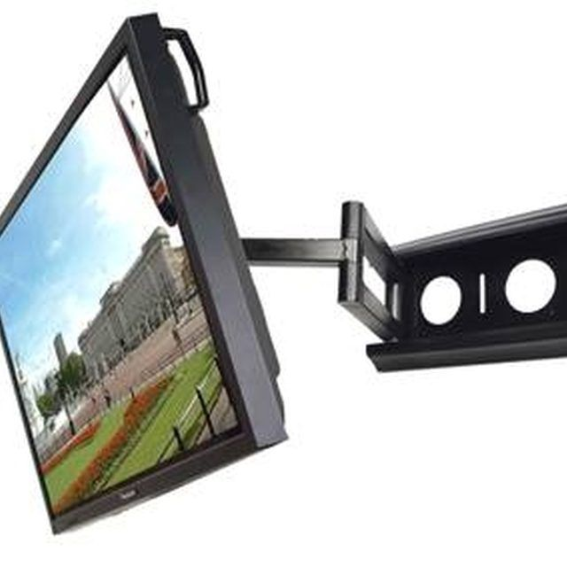 Save wall space with a corner-mount television.
