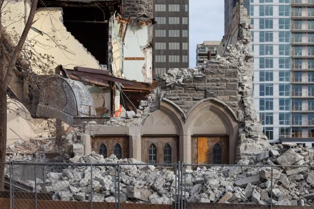 Church Demolished for Blue Diamond Condo Avenue Road at Foxbar St.Clair Avenue West Toronto Ontario
