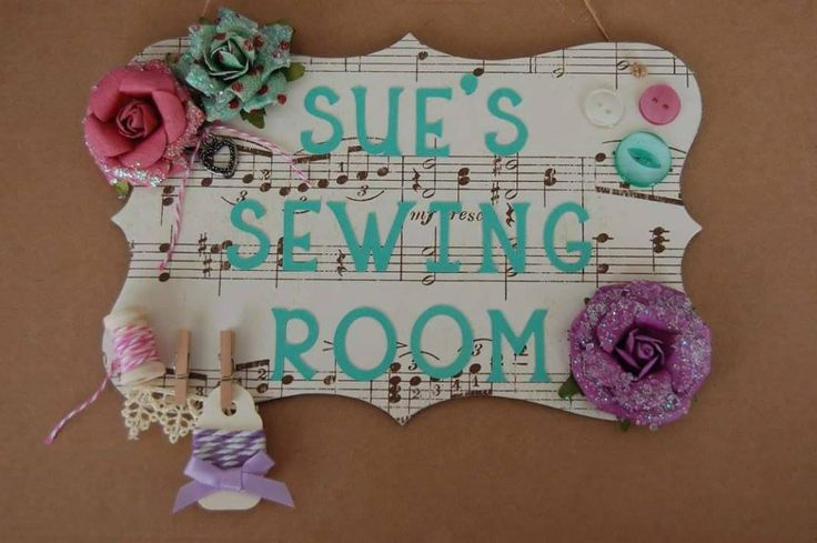 Shabby Chic Craft Room Sign plaque Sewing Room Sign Personalised Any Name. Custom made choice of designs available. Mum's craft Room sign. by FairylandDecor on Etsy