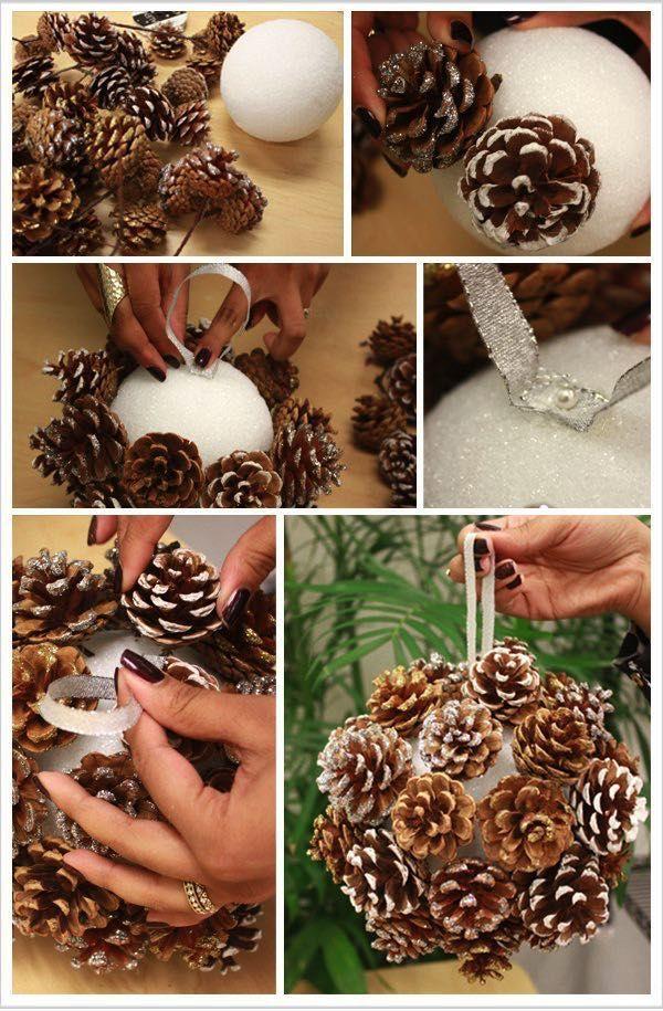 NapadyNavody.sk   18 nápadov na lacné, ale úžasné vianočné ozdoby vyrobené zo šišiek