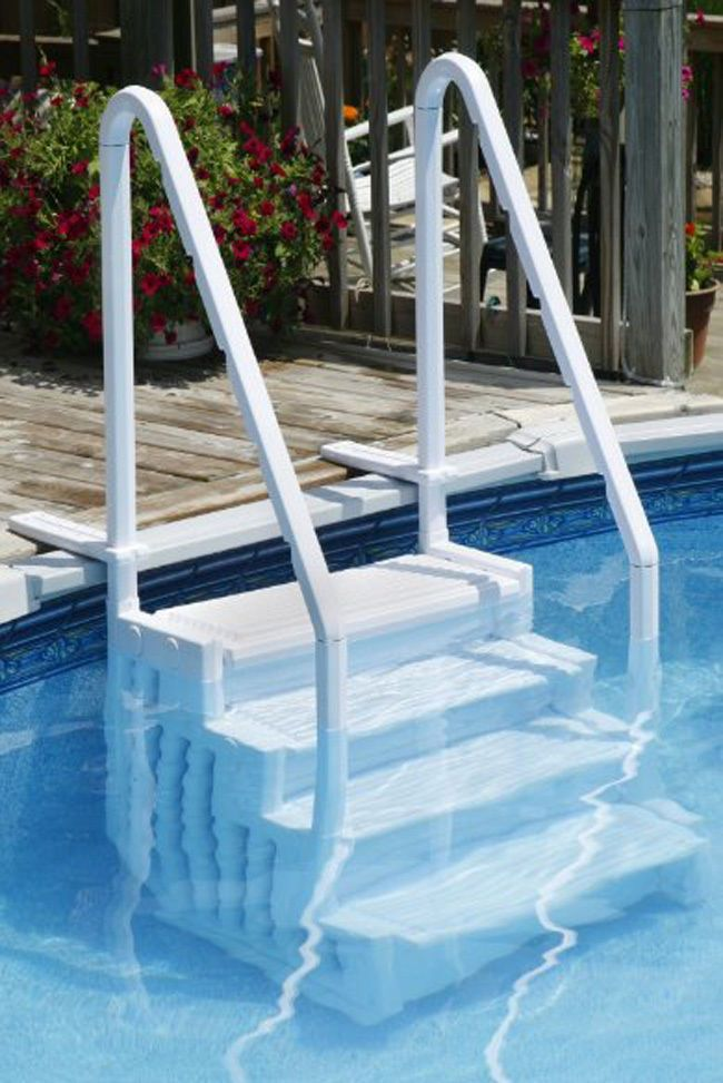 Best 25 above ground pool steps ideas on pinterest for Above ground pool ladder ideas