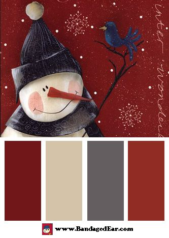 Christmas Color Palette: Winter Wonderland, Art Print by Jill Ankrom