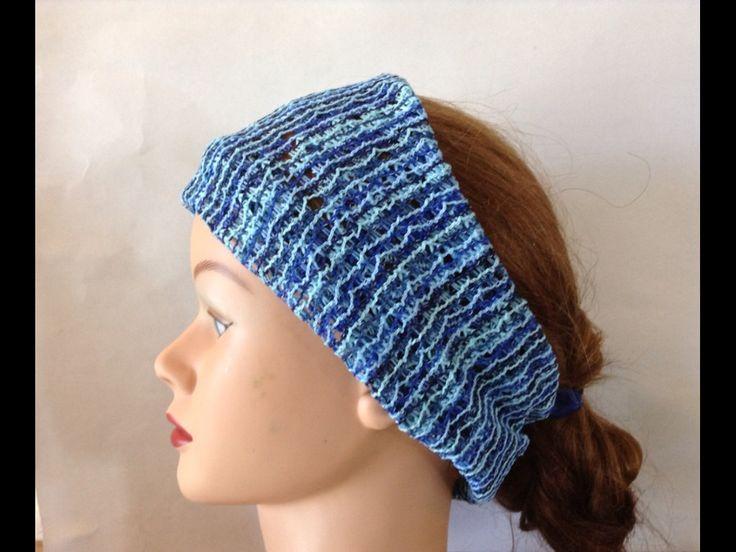 Knit headband, womens Headband, wide headband, blue head wrap, headbands for women, knit bandana, adult headband, boho head wrap, turban by lavishstore on Etsy